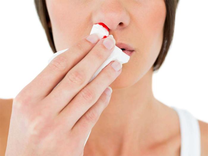 Симптомы кровотечения в перегородке